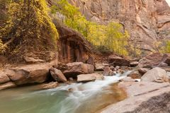 Free Virgin River Landscape In Fall Stock Images - 103610754