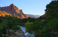 Virgin River Leads to The Watchman royalty free stock image