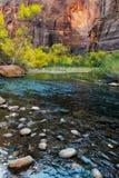The Virgin River Meandering through Zion Stock Photos
