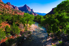 Virgin River running through Zion National Park,Utah Royalty Free Stock Photos