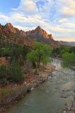 Virgin River Sunset Stock Image