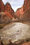 Virgin River Zion Canyon National Park Utah Stock Photo