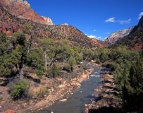 Virgin River, Zion National Park, USA. Stock Photo