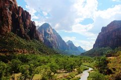 Virgin River, Zion National Park. The Vergin River located in Zion National Park, southwestern Utah Stock Image