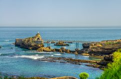 Virgin Rock in Biarritz, France. Royalty Free Stock Photos