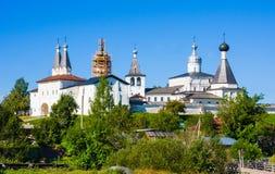 Virgin Rozhdestvensky Belozersky Monastery. Ferapontovo,, Vologda region, Russia Royalty Free Stock Photo