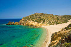 Virgin sand beach - Greece Stock Photos