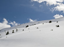 Virgin Snow. Landscape of a snowy mountain with fresh snow, which shows no footprint Stock Photography