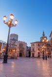 Virgin Square. Valencia. Virgin Square at night. Valencia. Spain Royalty Free Stock Photography