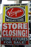 Virgin store closing Royalty Free Stock Image