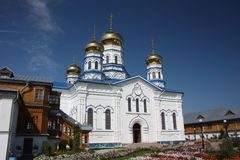 The Virgin of Tikhvin Monastery. Cathedral of Our Lady of Tikhvin. Royalty Free Stock Photography