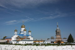 The Virgin of Tikhvin Monastery. Panorama. Stock Photo