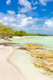 Virgin tropical beach at Coco Key in Cuba Royalty Free Stock Photos