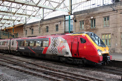 Virgin Voyager diesel multiple unit at Carlisle Royalty Free Stock Image