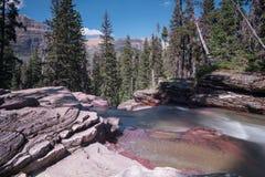 Virgina Creek Cascades off Red Rocks Stock Photos