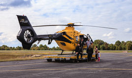 Virginia AirCare 3 Medevac Helicopter Stock Photography