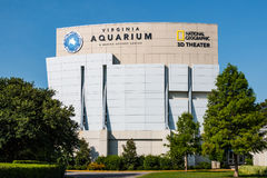 Virginia Aquarium och IMAX-teater i Virginia Beach, Virginia Arkivfoton