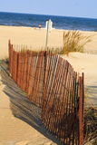 Virginia Beach. Sand dunes and fence at Virginia Beach Stock Images
