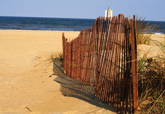 Virginia Beach. Sand dunes and fence at Virginia Beach Royalty Free Stock Photos