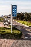 Virginia Beach Boardwalk Bike Path and Benches Stock Photos