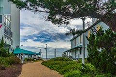 Virginia Beach Boardwalk, Virginia Beach E.U. - 12 de setembro de 2017 extremidade da estação imagens de stock