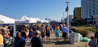 Virginia Beach Boardwalk Festival fotografia de stock