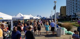 Virginia Beach Boardwalk Festival fotografia stock