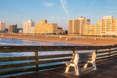 Virginia Beach Boardwalk Hotels from Pier Royalty Free Stock Image