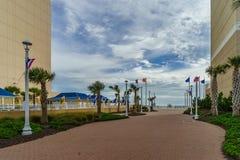 Virginia Beach Boardwalk, Virginia Beach los E.E.U.U. - 12 de septiembre de 2017 finales de la estación imagenes de archivo