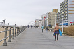 Virginia Beach Boardwalk in October Stock Image