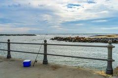 Virginia Beach Boardwalk, Virginia Beach parque de los E.E.U.U. - 12 de septiembre de 2017 isla del ojal fotografía de archivo