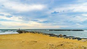 Virginia Beach Boardwalk, Virginia Beach parque dos E.U. - 12 de setembro de 2017 ilha do ilhó fotografia de stock royalty free