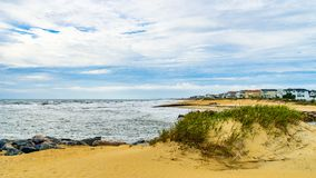 Virginia Beach Boardwalk, Virginia Beach parque dos E.U. - 12 de setembro de 2017 ilha do ilhó fotografia de stock