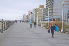 Virginia Beach Boardwalk By the Sea Stock Image