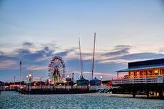 Virginia Beach. A carnival along a beach with a ferris wheel Stock Photography