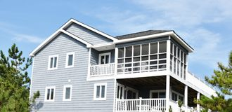 Virginia beach eastern shore  oceanfront  home Royalty Free Stock Photos