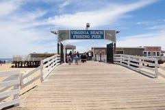 Virginia Beach Fishing Pier Photo libre de droits