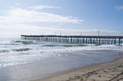 Virginia Beach Fishing Pier Stock Foto's