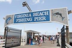 Virginia Beach Fishing Pier Foto de Stock Royalty Free