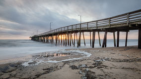 Virginia Beach Fishing Pier Stock Photography