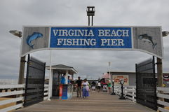 Virginia Beach Fishing Pier Stock Photography