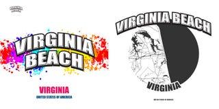 Virginia Beach, la Virginie, deux illustrations de logo illustration libre de droits