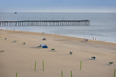Virginia Beach Pier Photographie stock