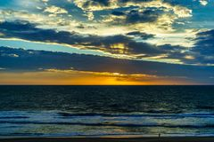 Virginia Beach Sunrise, Virginia Beach, Virginia lizenzfreies stockbild