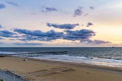 Virginia Beach Sunrise, Virginia Beach, Virgínia Fotografia de Stock