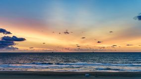 Virginia Beach Sunrise, Virginia Beach, Virgínia Imagem de Stock