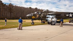 Wild Cargo B-25 Bomber Royalty Free Stock Photos
