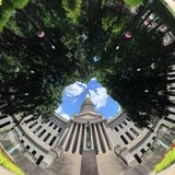 Virginia Capitol ad ovest in primavera Immagine Stock Libera da Diritti