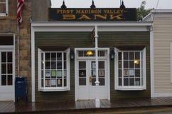 Virginia City, Montana, de bankbouw royalty-vrije stock fotografie