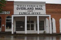 Virginia City, Montana, Wells Fargo & over land Uitdrukkelijk stock afbeelding